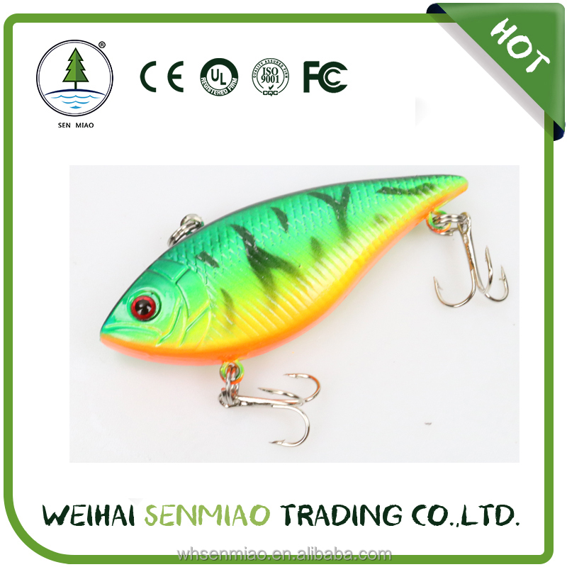 70mm Length Aftificial Bait fishing lure Green color hard lure