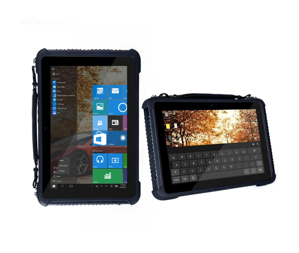 10 inch WIN 10 Waterproof IP65 NXP NFC Android rugged tablet with Fingerprint identification support 1D/2D barcode scanner