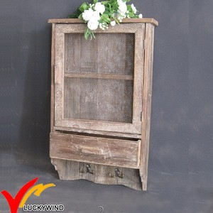 fir living room hanging vintage wooden wall cabinet