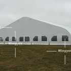 Luxury Curve Shaped PVC Side Panels Outdoor Event Tent for Exhibition