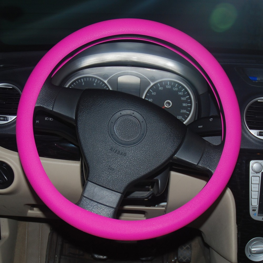 2015 new coming promotional items car covers decoration silicone steering wheel cover