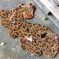 Spray Printed Natural Fiber Animal Leopard Door Carpet