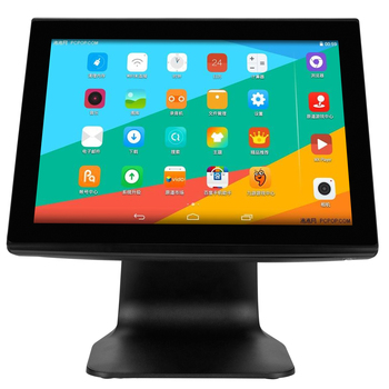 AW-T3A 15inch true flat capacity touch sreen android POS system all in one pos android machine