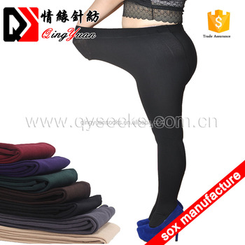 47deda654e25f winter thick polyester thermal legging cosy brush tights fleece lined  footed leggings big Size