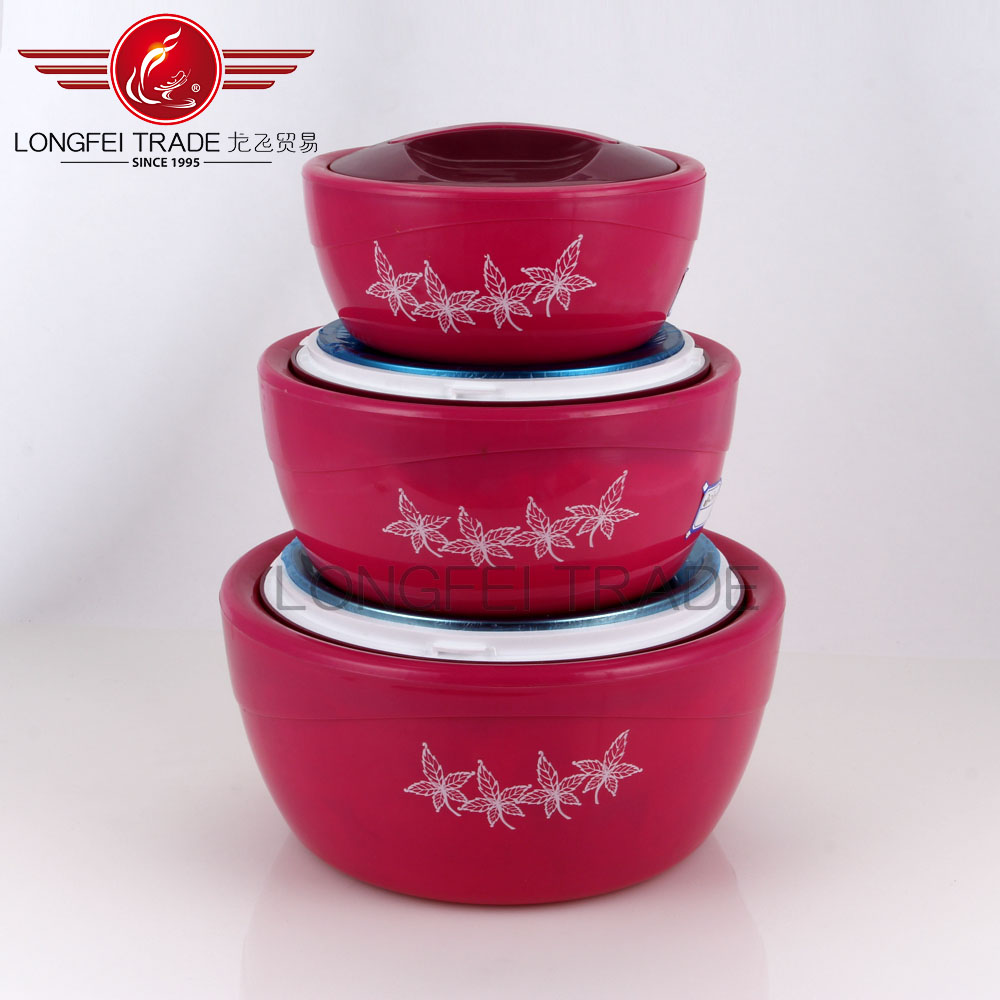 3 Piece Keep Warm Cold Insulated Casserole Hot Pot Food