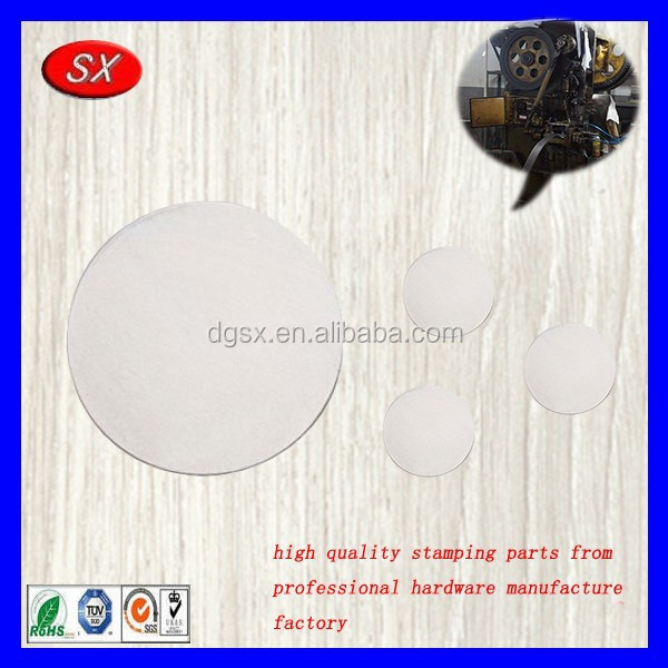 customized METAL STAMPING BLANK Silver filled circle,aluminum flat stamping washers from directly factory