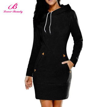 Hot Selling Solid Black Dress Above Knee Fancy Girls Winter Sexy Dresses For Women