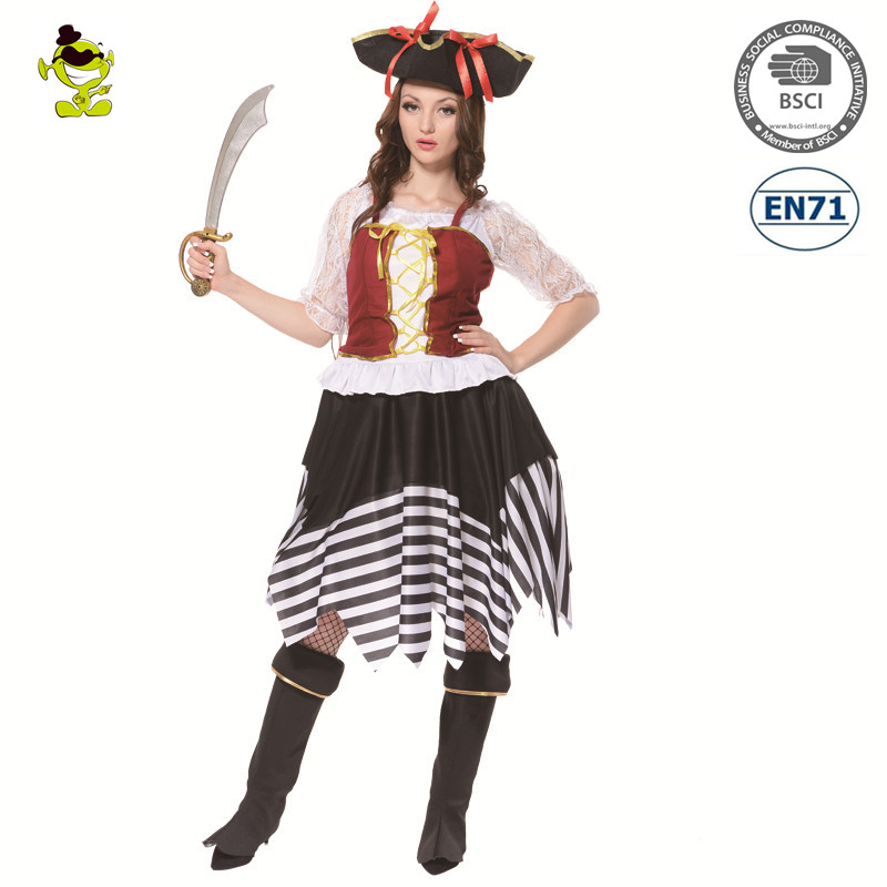 Halloween Sexy Female Pirate Woman's Fancy Female Dress Costume