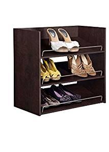 Get Quotations · ClosetMaid Impressions 3 Shelf Chocolate Shoe Organizer