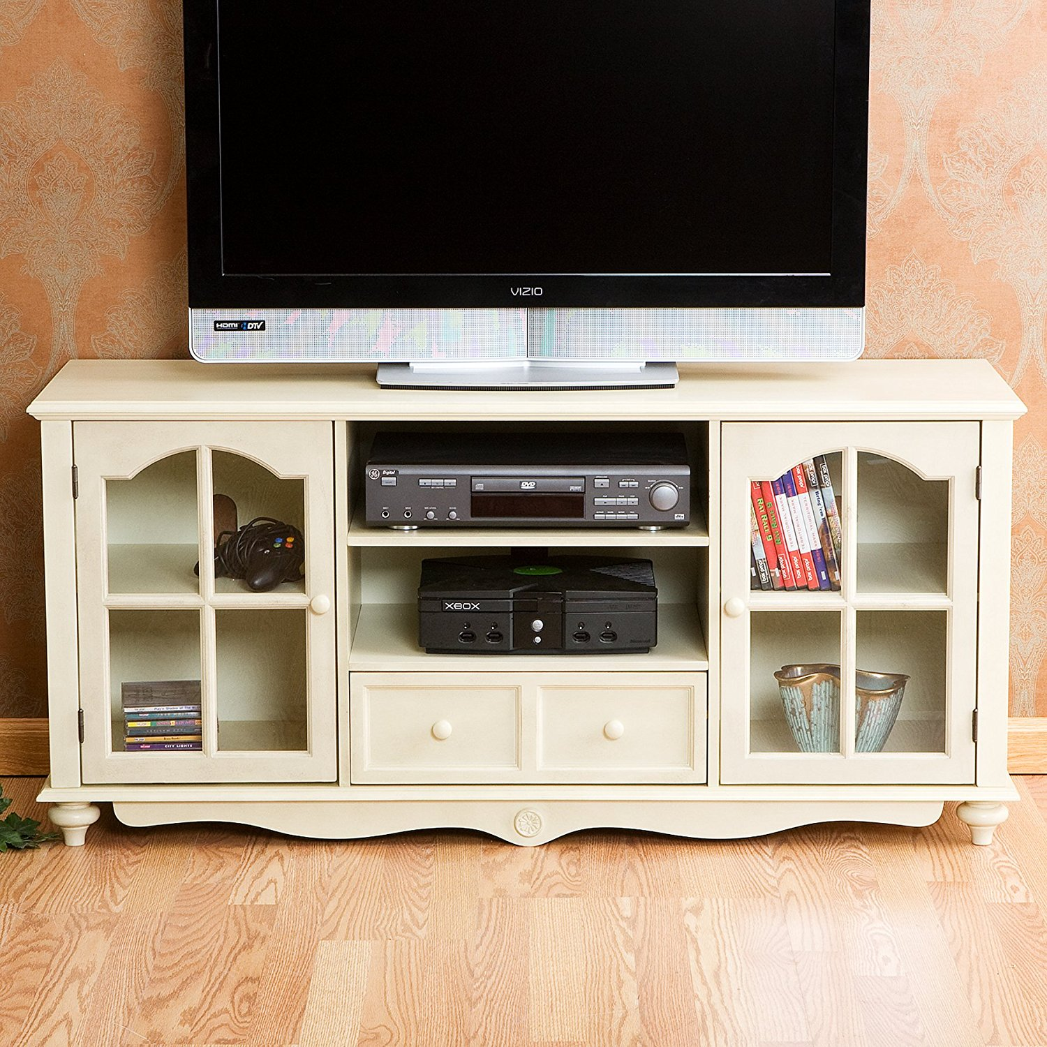 Get Quotations Luvi Coventry Large Tv Console Antique White