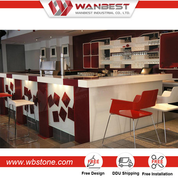 Customized Commercial Bar Counters Small Juice Bar Counter Designs ...