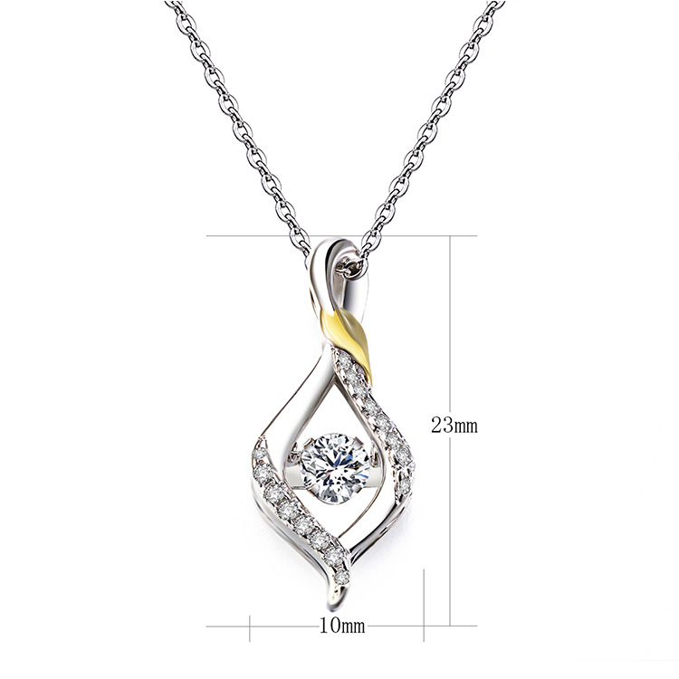 Popular indian 925 sterling silver cz pave gold plating wedding diamond necklace