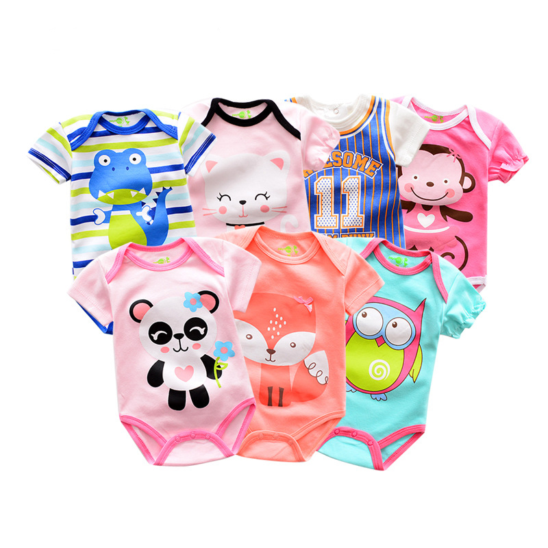 Short sleeve baby girl bodysuit baby clothes фото