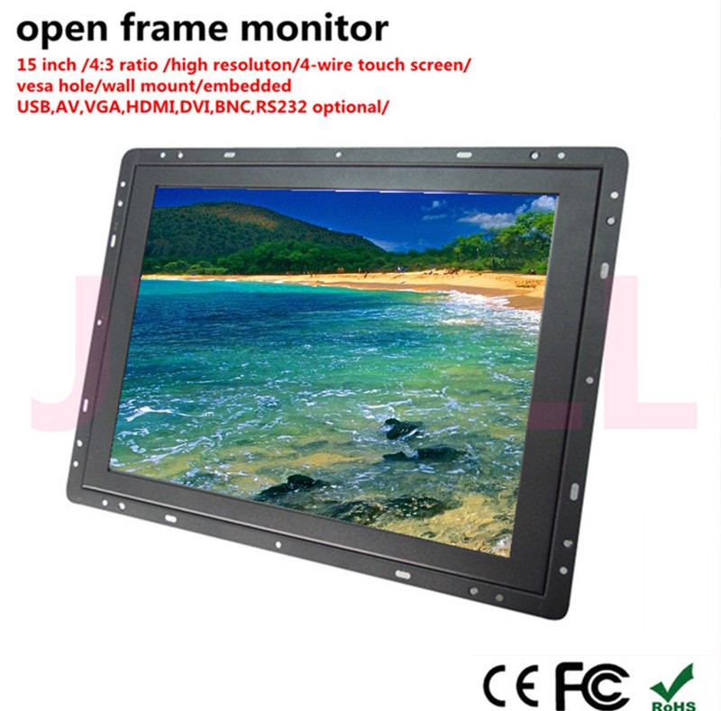 Hot Sell 15 Inch 4:3 Ratio 4-wire Vga Advertising Open Frame Monitor ...