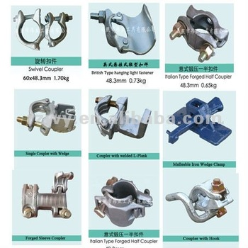 Pch Style Swivel Scaffolding Pipe 48 3mm Clamps Scaffold