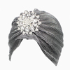 Custom made 100% polyester fashion islamic turban hijab with rhinestone decoration