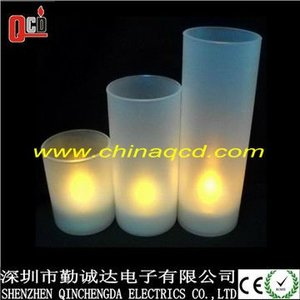 Different size led tealight holder - plastic cup.