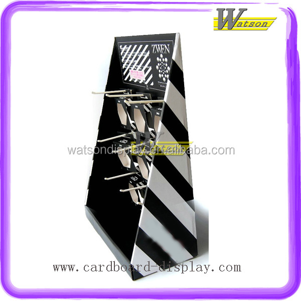 Portable Promotion Cardboard Hook Counter Display Stand