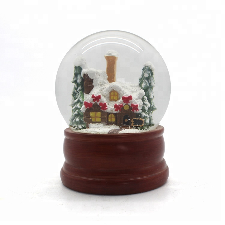 Custom Resin Log Cabin Schneekugel