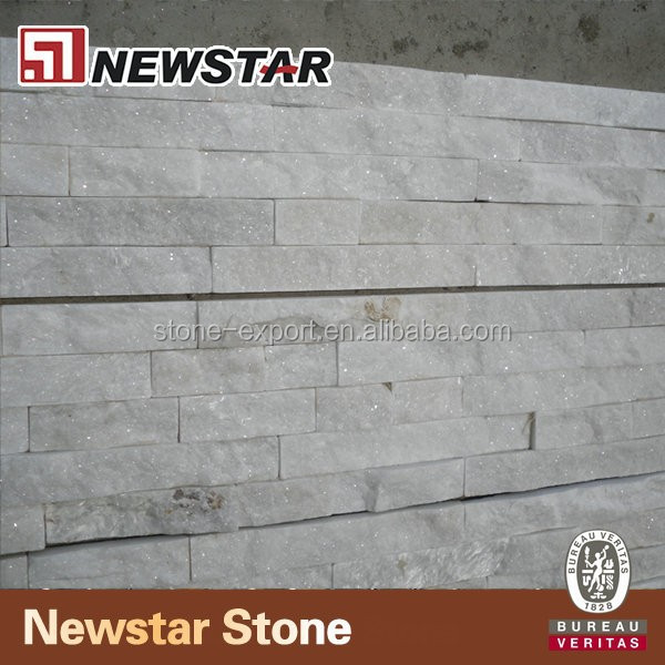natural white quartz flexible stone veneer
