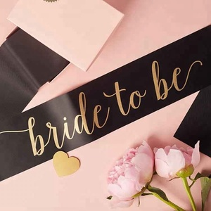 2018 New Style Bride To Be Sash Pink Black White Decoration for Wedding Party Supplies