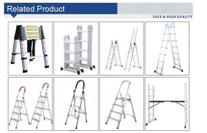 China cheap Rubber feet for Aluminum Multi-purpse Folding Step ladder With Long-term Technical Support