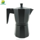 espresso black and green aluminium coffee makers