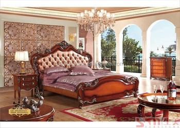 Armoire De Chambre Et Commode De Style Américain Lit King Size Drak ...