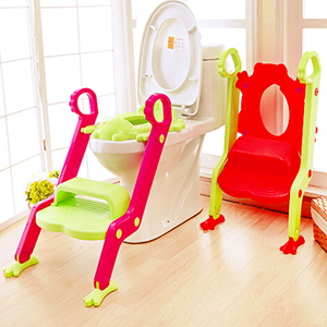 Eco-friendly frog folding portable toilet seat training ladder baby potty with step
