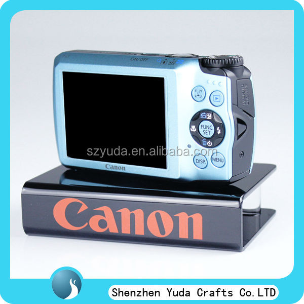hot sale cheap desktop printing canon camera stand custom acrylic counter stand for camera store