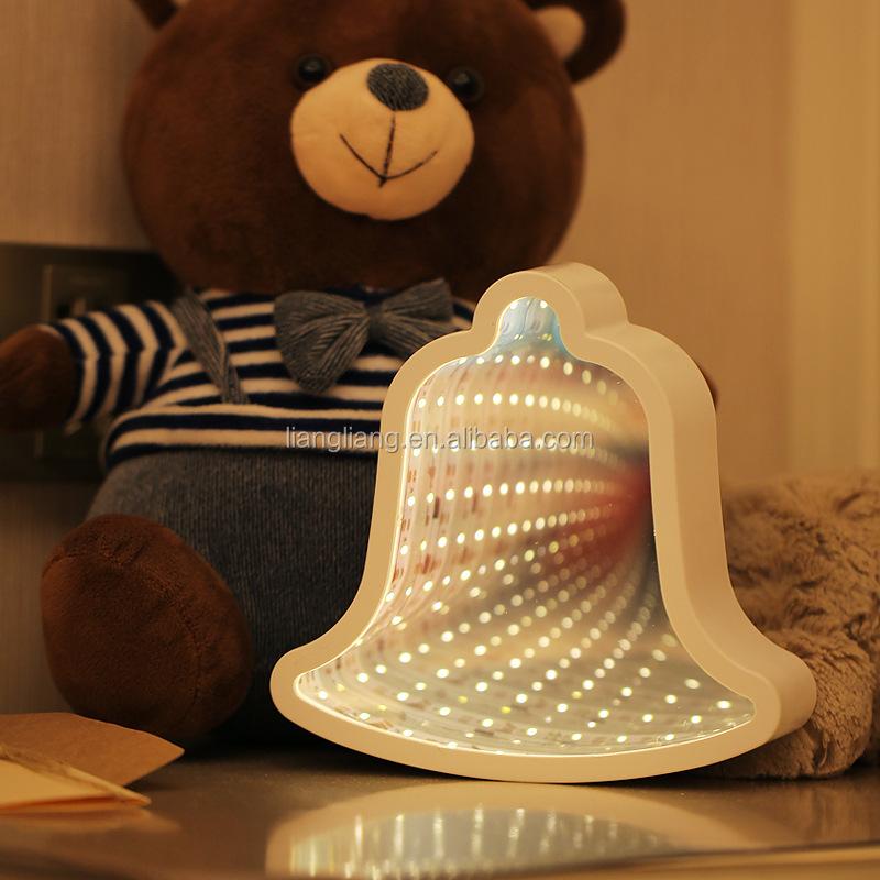Christmas Bell Shape Infinity Mirror Tunnel Lamp Led Light