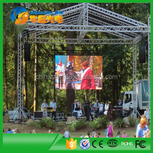 Hire LED Screen P5 Usage Outdoor Stage LED Display for Rental Led Project