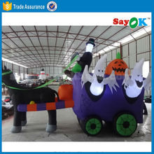 Halloween inflatable ghost in carriage customized