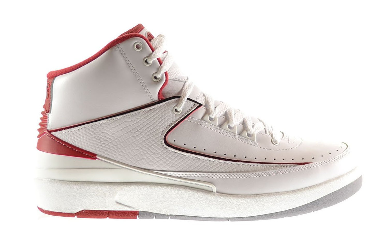 0e39b2a3ec990f Air Jordan 2 Retro Men s Shoes White Black-Varsity Red-Cement Grey 385475