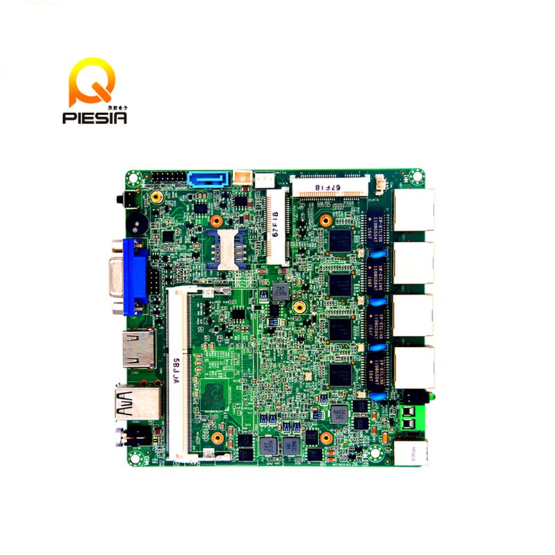 Industrial Nano itx Motherboard with 4 ethernet LAN , Processor Celeron j1900