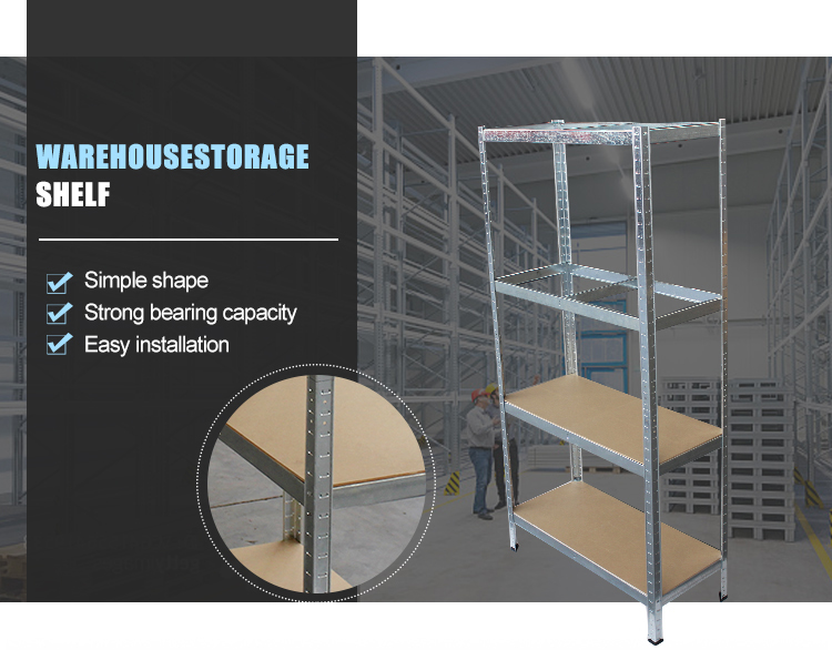 Warehouse stainless steel 5 tiers storage shelves /metal rack