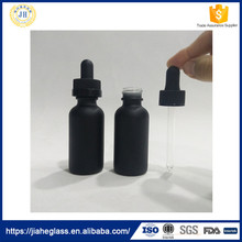 Ejuice,liquid medicine use and glass material frosted black glass vape bottles