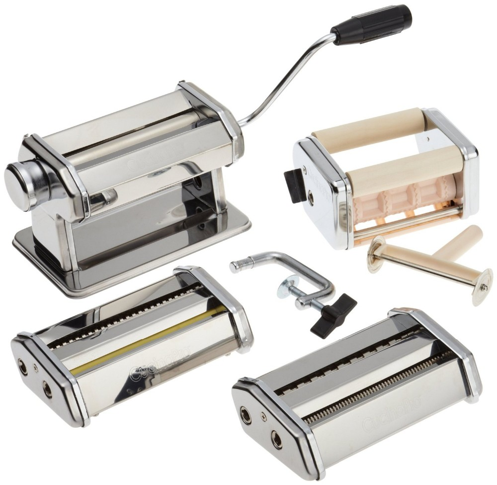 (4 in 1) pasta maker set with spaggett machine and dumpling machine LFGB and FDA standard