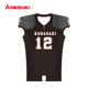 Top quality sublimated youth black professional american football uniforms