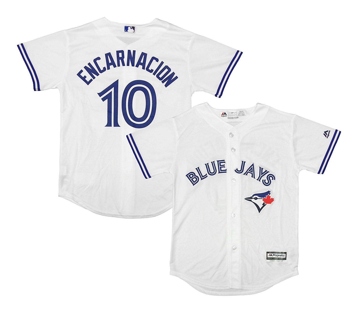 49209f1c266 Get Quotations · Outerstuff Edwin Encarnacion Toronto Blue Jays White Youth  Cool Base Home Replica Jersey