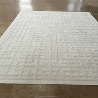 Modern design high-low cutting viscose hand made rugs carpets