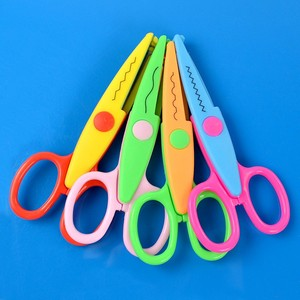 Mini Craft Tool three color plastic small baby safety mini scissors kids