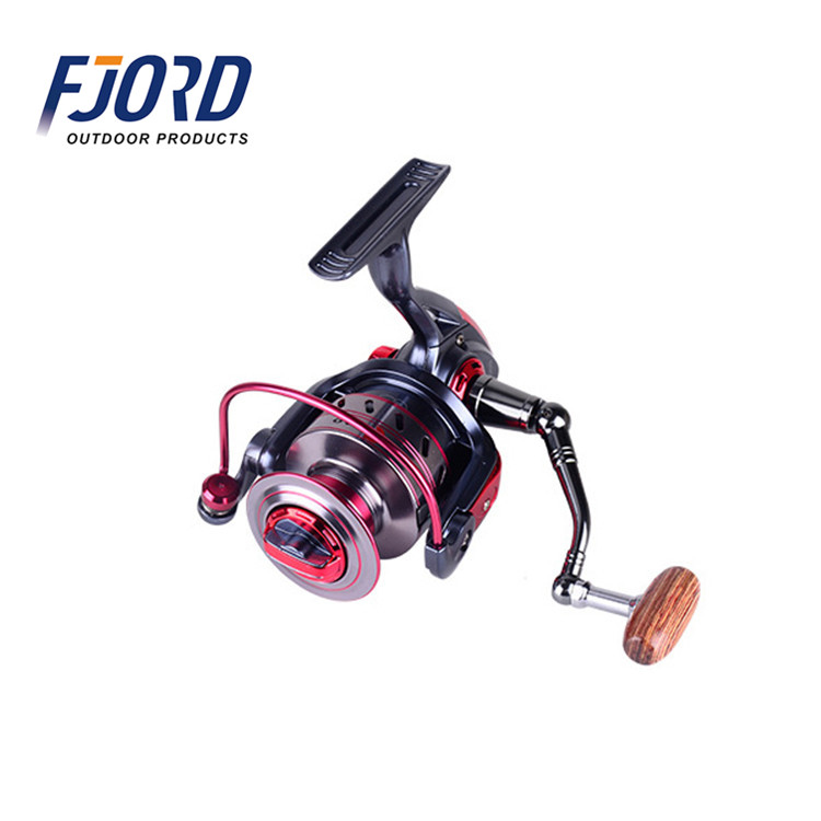 FJORD Low price handle wooden knob saltwater spinning fishing reel, Same as picture or customized