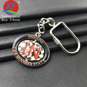 high quality oval basketball alphabet printing marvel rotating metal keychain