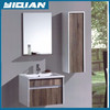 New Design White and Oak Color Cabinet Wall Mounted MDF Bathroom Furniture Combo