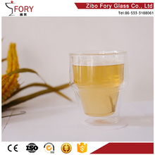 Customized wholesale 200ml Double Wall Beer Glass Mug Double Wall Beer Glass Cup Dinner Double Wall Ice Jucie Cup
