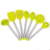 Silicone Kitchen Utensils Cooking Set of 8 Piece Gadget Set Stainless Steel Handle Turners, Tongs, Spatulas, Egg Whisk