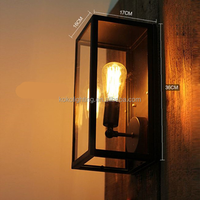 Wholesale Led Outdoor Lighting Garden Wall Light Lamp Lights Exterior  Industrial Vintage Iron Wall Lamp