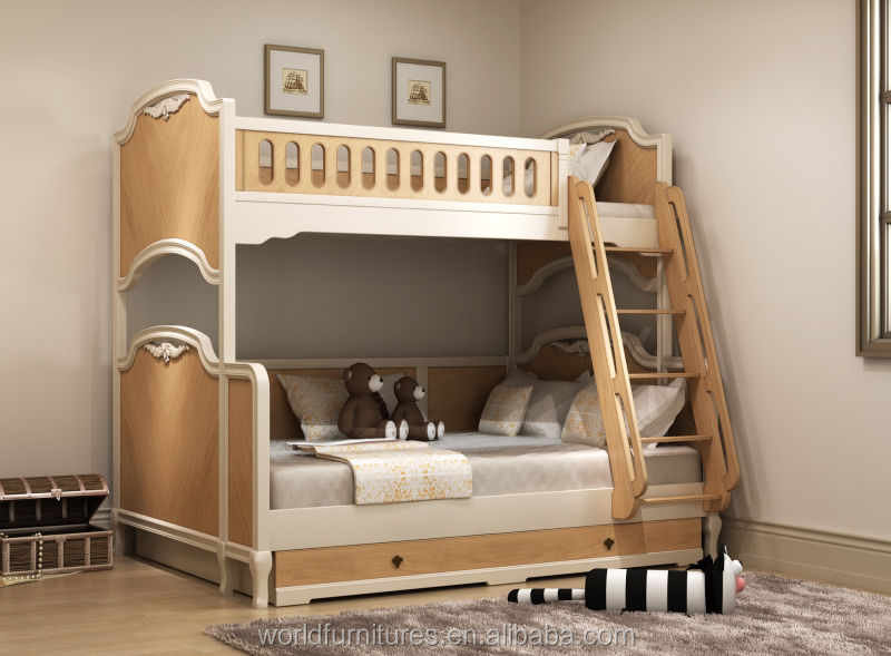 Colorlife Teenage bunk bed europe style kids bedroom furniture