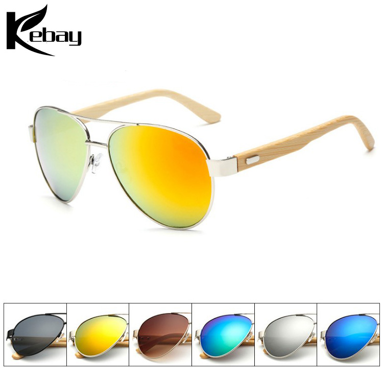 Wholesale Fashionable Bamboo Lady Toad Metal Glasses cat 3 uv400 China Sun glasses